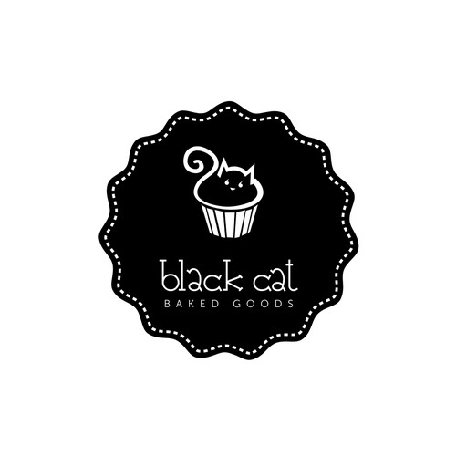 Brownie logo with the title 'BLACK CAT Baked Goods'