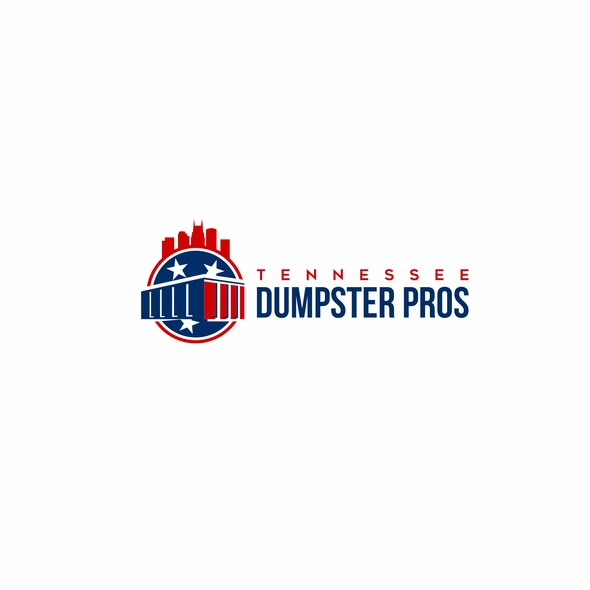 Junk removal logo with the title 'Tennessee Dumpster Pros'