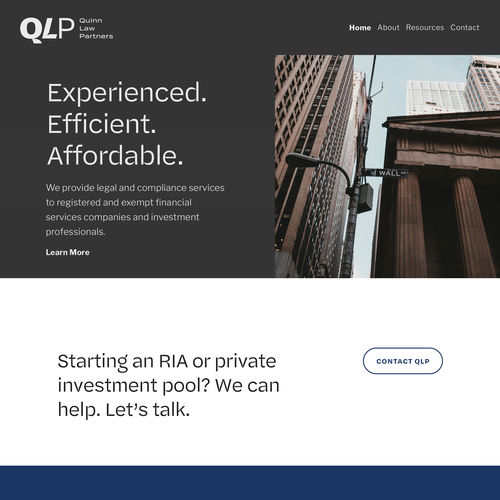 Mailchimp design with the title 'Quinn Law Partners'