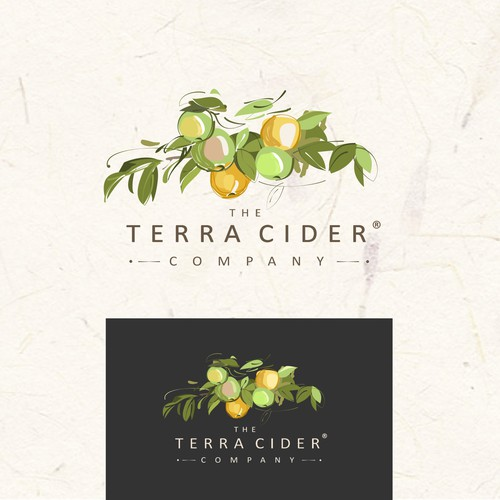Cider logo with the title 'terra'