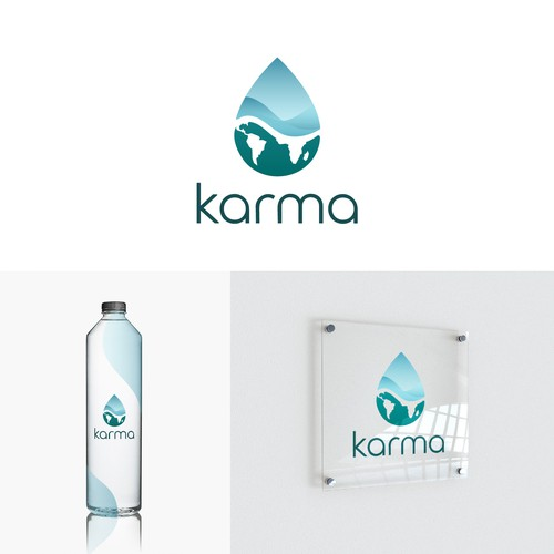 Climate logo with the title ' Karma - Logo Design Concept'