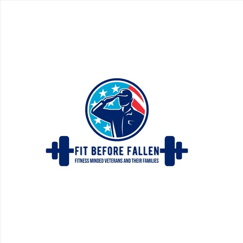 American flag logo with the title 'Fit Before Fallen'