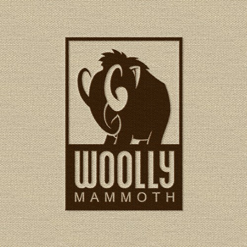 Green logo with the title 'Character logo for Woolly Mammoth'