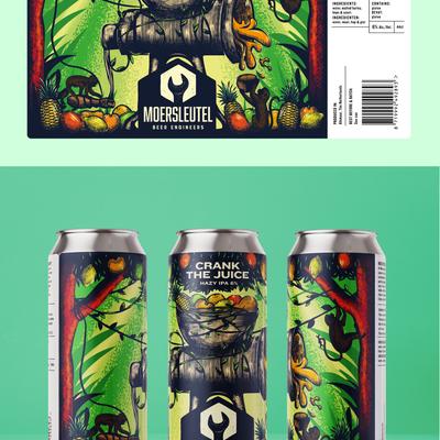 Crank the Juice IPA Beer Label