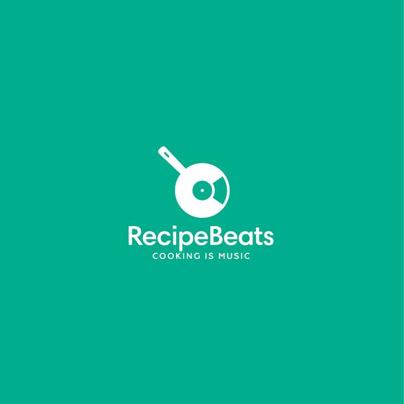 Pan design with the title 'RecipeBeats Logo'