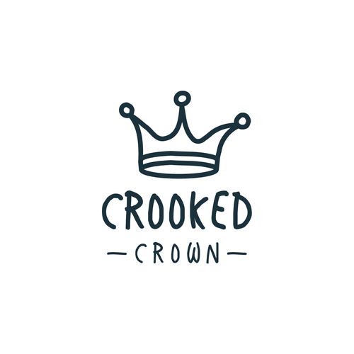 Black crown logo with the title 'Crooked Crown'