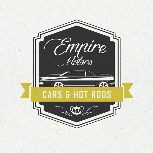 Motor design with the title 'Empire Motors logo'