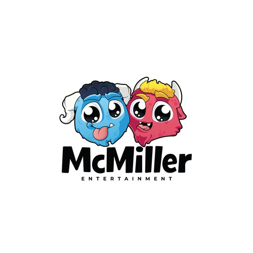 Kawaii design with the title 'McMiller Entertainment Logo'