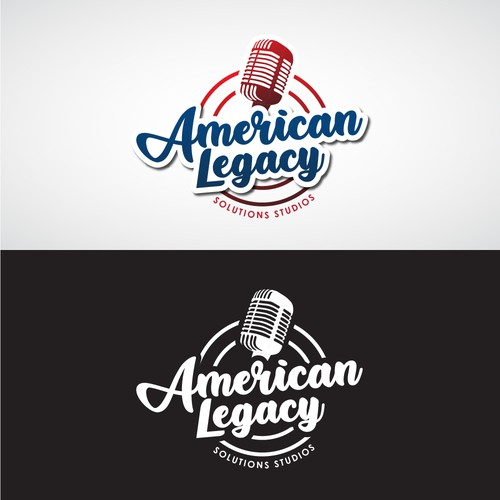 Radio station logo with the title 'American Legacy'