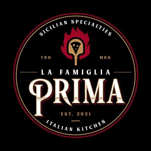 Fire design with the title 'La Famiglia Prima '