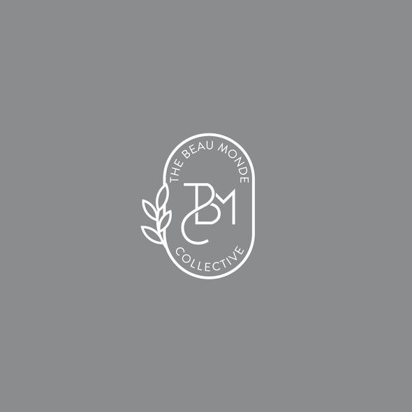 Pantone design with the title 'The Beau Monde Collective - Logo Design'