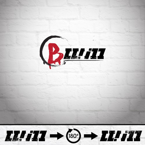 Ambigram logo with the title 'B.will logo for a rap artist'