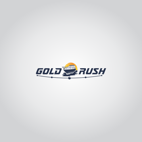 Watersports logo with the title 'Logo concept for Gold Rush'
