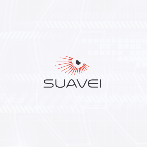 Abstract logo with the title 'Minimalistic eye design'