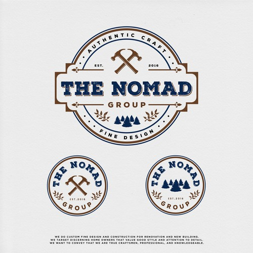 Group design with the title 'THE NOMAD GROUP'