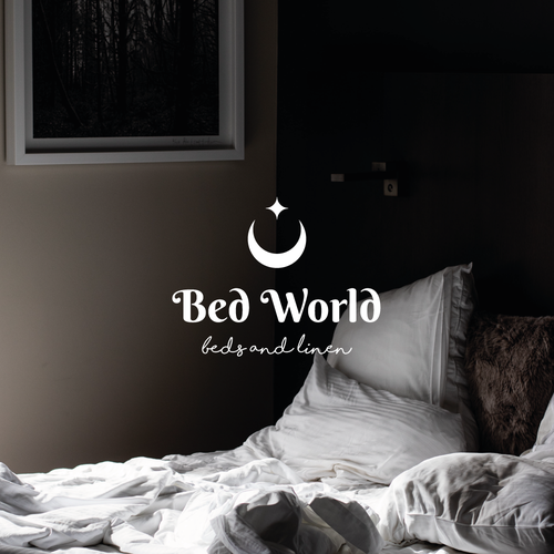 Bedding logo with the title 'Bed World'
