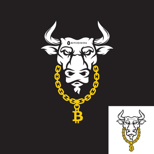 Angry design with the title 'bull'