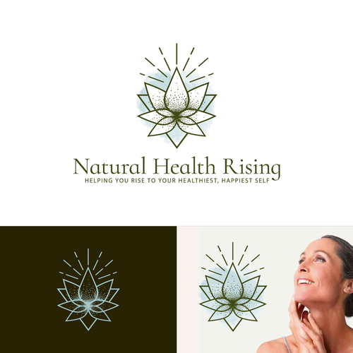 Lotus design with the title 'Natural Health Rising'