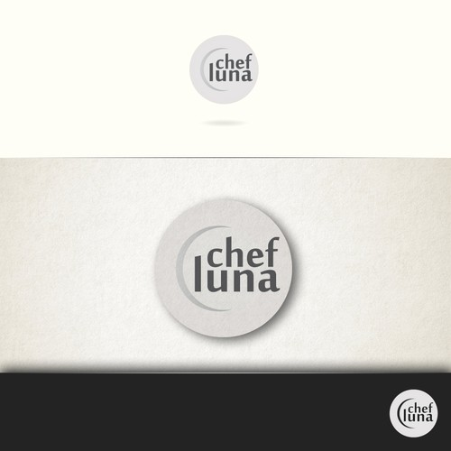 Plate logo with the title 'Logo design for Chef Luna.'