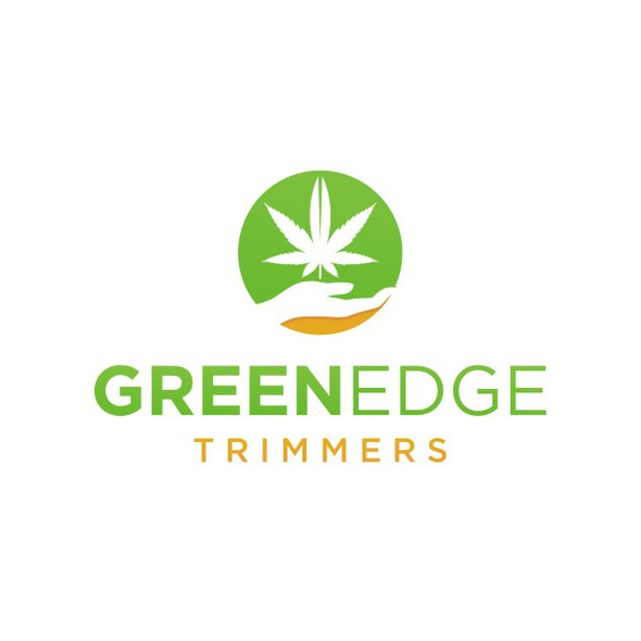 Cannabis design with the title 'Logo Revamp for GREEN EDGE TRIMMERS, a Cannabis Trimming Company '