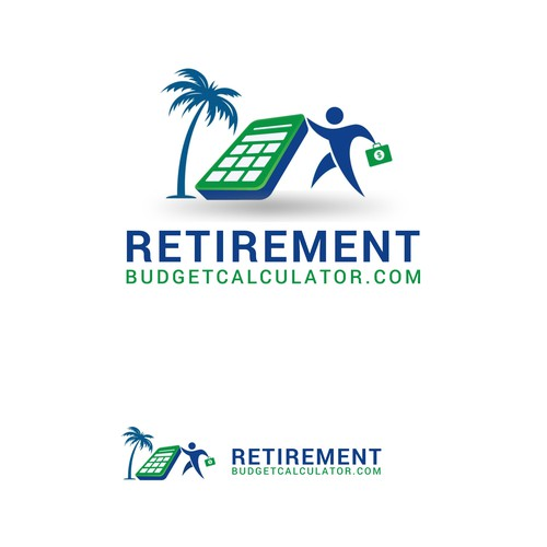 Calculator logo with the title 'Retirement Budgetcalcutor redesign logo'