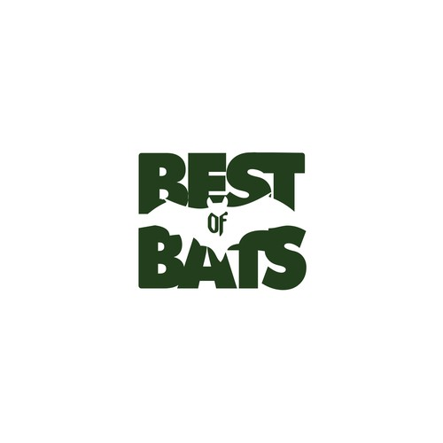 Vampire logo with the title 'Bats Preservation Campaign Logo Artwork Concept'