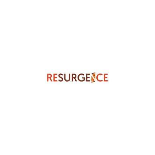Restaurant logo with the title 'Resurgence'