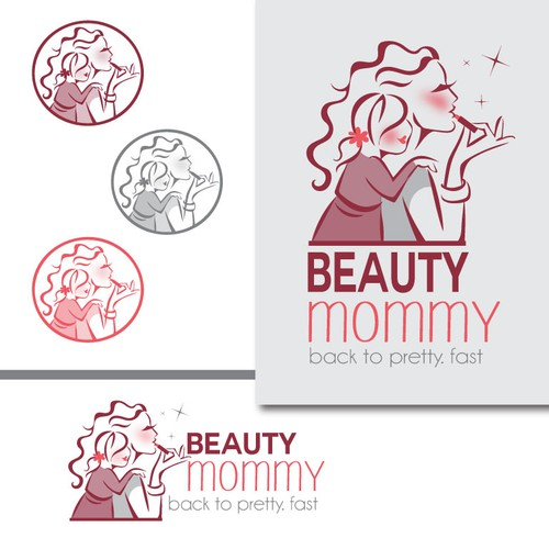 Motherhood logo with the title 'Create an iconic logo for BeautyMommy.com'