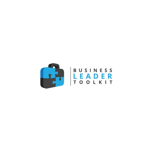 Leadership logo with the title 'A powerful logo for a business executive E-course'