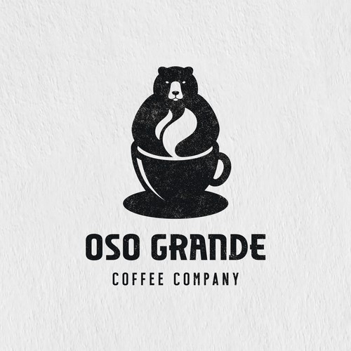 Coffee house logo with the title 'Oso Grande'