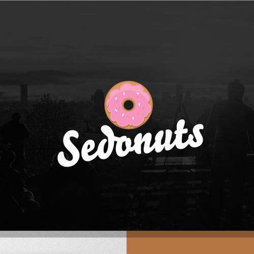 Fancy logo with the title 'donuts logo'