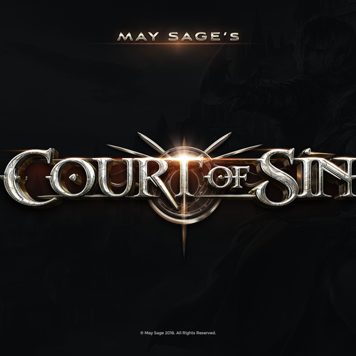Fantasy logo with the title 'Court of Sin Novel Logo'