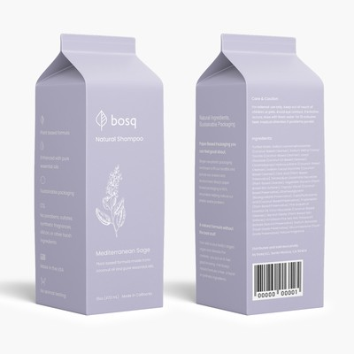 Packaging design for bosq