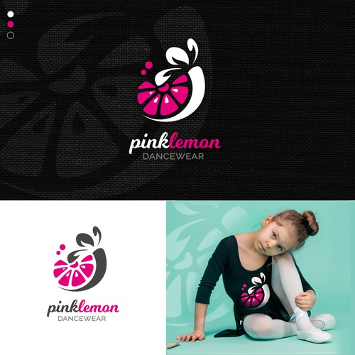 Energetic logo with the title 'Logo concept for a girls dance wear company'