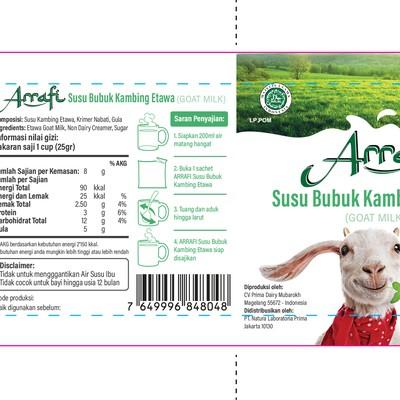 Clean and fun sachet for goat milk powder