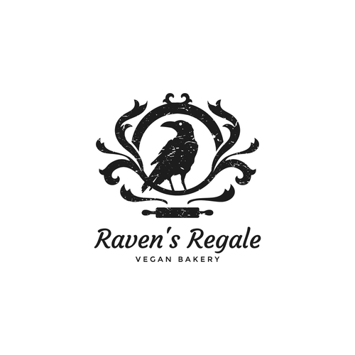 Pastry logo with the title 'Logo concept for vegan bakery'