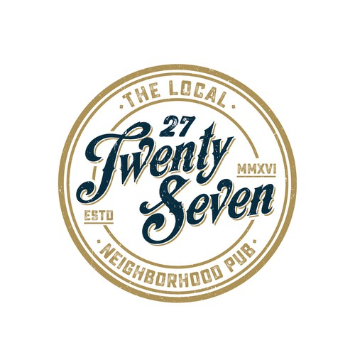 Pub logo with the title '27 Bar logo'