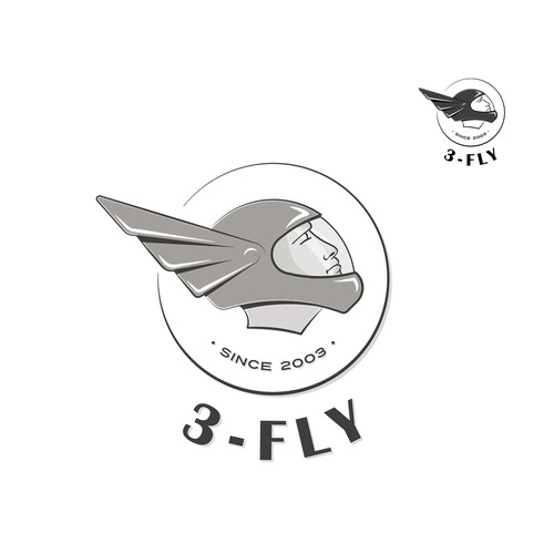 Skydiving design with the title 'Logo concept for a skydiving team'