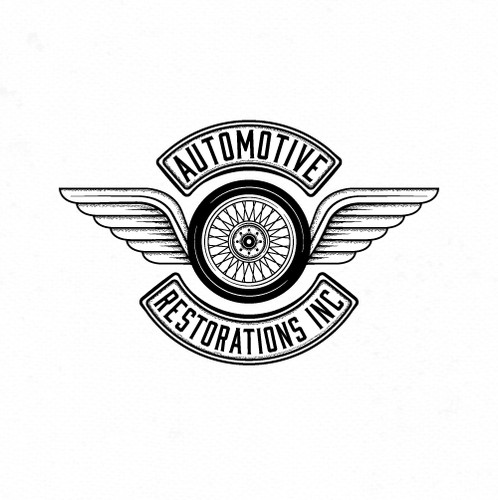 Automotive logo with the title 'Logo for automotive restorations.'