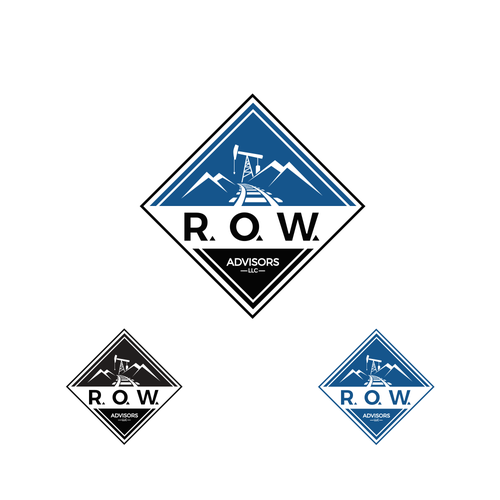 Railroad logo with the title 'R.O.W. Advisors, LLC.'