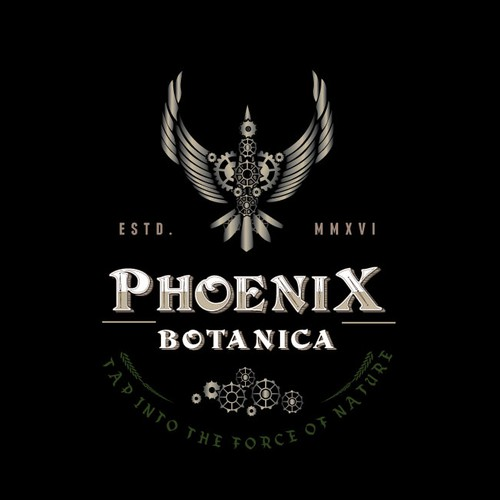 Phoenix logo with the title 'Logo design for herbalist '