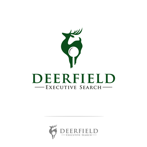 Magnifying glass logo with the title 'Deerfield executive search'
