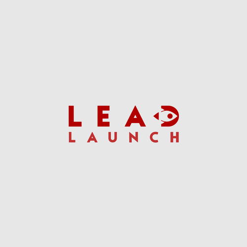 CEO logo with the title 'LEAD LAUNCH simple logo design'
