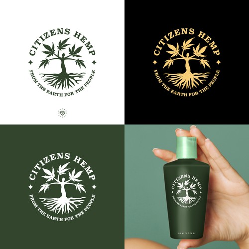 Tree of life design with the title 'CITIZENS HEMP LOGO'