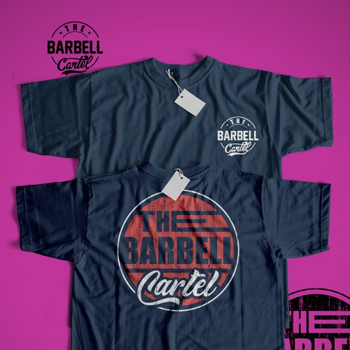 Fitness t-shirt with the title 'the barbell cartel'