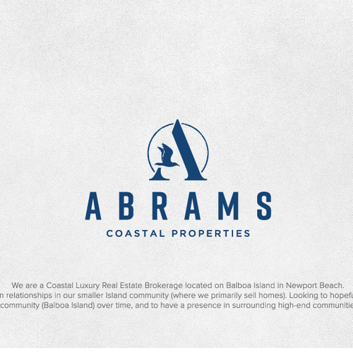 Bird brand with the title 'Logo for Abrams Real Estate'