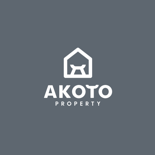 Property brand with the title 'Logo, brand guide and brand identity for Akoto Property'