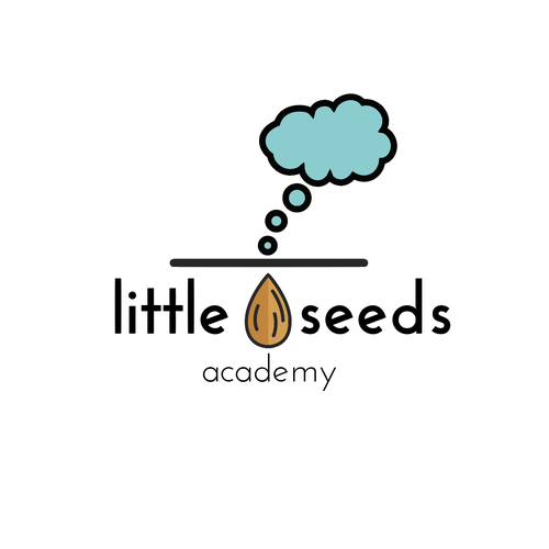 Parenting logo with the title 'Little Seeds Academy Logo Design'