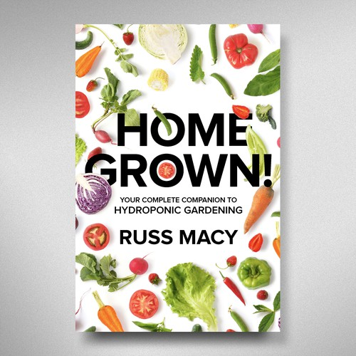 White background design with the title 'Home Grown '