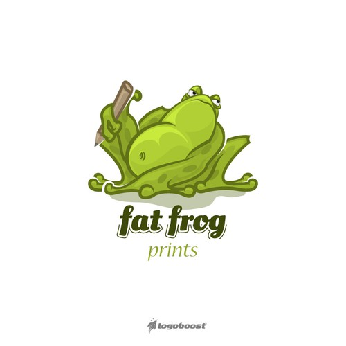 Fat logo with the title 'fat frog logo'